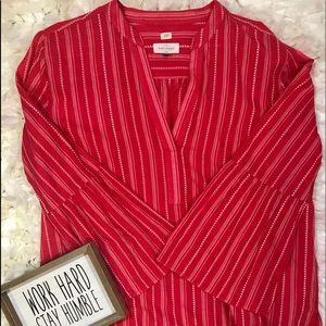 LOFT tunic softened shirt 100% cotton